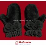 [Clearance Sale] ถุงมือคุโระโลลิต้า สีดำ Kuro Lolita Gloves