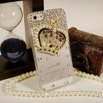 เคสไอโฟน 4/4s (Case Iphone 4/4s) เคสไอโฟนกรอบโปร่งใสประดับเพชร และมงกุฏเพชร