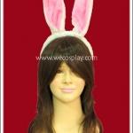 หูกระต่าย สีขาวชมพู แบบหูยาว Long Bunny Ears Headband