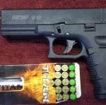 ปืนแบงค์กันส์ RETAY G17 สีดำ (Glock17) 9mm P.A.K. Blank Gun.