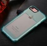 เคสไอโฟน 6Plus/6sPlus (เคสยางนิ่ม + ที่สอดนามบัตร + เรืองแสงได้ +กันกระแทกเครื่อง) แบบฟ้าใส