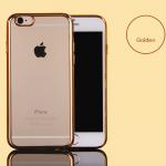 **ตำหนิเล็กน้อย** เคสไอโฟน 7Plus (TPU CASE) เคสนิ่มกรอบใสขอบทอง