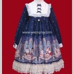 เดรสมิดไนท์แอสโทรโลจี้ สีน้ำเงินหรูหรา (Midnight Astrology Lolita Dress)