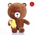 ตุ๊กตาหมีบราวน์ Brown Line ถือเป็ดแซลลี่ 80 cm.