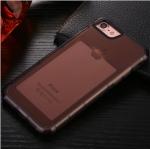 เคสไอโฟน 6Plus/6sPlus (เคสยางนิ่ม + ที่สอดนามบัตร + เรืองแสงได้ +กันกระแทกเครื่อง) แบบดำใส