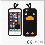 เคสไอโฟน 5/5s/SE (ซิลิโคน) เป็ดน้อยน่ารัก สีดำ