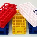 ที่ตั้งหลอดทดลองพลาสติก Stackable test tube rack plastic