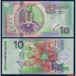 ธนบัตรประเทศ สุรินัมSUR-147 ชนิดราคา 10 GULDEN (กิลเดอร์) ของแท้ใหม่ยังไม่ใช้
