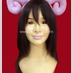ที่คาดผมเขาแกะ สีชมพู Pink Sheep Horn Headband