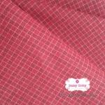 ผ้าทอญี่ปุ่น 1/4ม.(50x55ซม.) ลายตารางโทนสีแดง