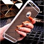 เคสไอโฟน 7 Plus (TPU CASE) เคลือบฟิล์มกระจกสีเงิน