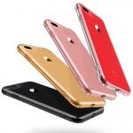 เคสไอโฟนรุ่นป้องป้องกล้อง+กันกระแทกตัวเครื่อง (Premium Case) เคสยางนิ่มแบบหนา สีชมพูใส Iphone 6/6s