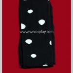 กางเกงเลคกิ้งพังค์ สีดำ แบบมีรอยขาดๆ รูเล็ก