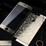 ฟิล์มกระจกลายเพชร หน้า-หลัง Iphone 6/6s สีทอง