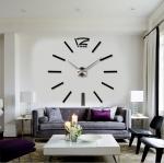 นาฬิกาDIY ขนาดจัมโบ้90cm สีดำ big1A