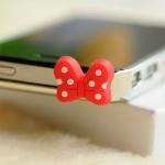 จุกเสียบ iphone4/4s/samsung โบว์
