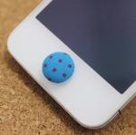 ปุ่มโฮมไอโฟน กระดุมสีน้ำเงิน