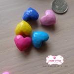 ลูกปัดหัวใจคละสีพาสเทล จำนวน 6 เม็ด (ครึ่งโหล)