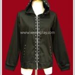 เสื้อแจ๊คเก็ตพังค์ Punk Jacket สีดำ ตอกหมุดเงิน เรียบๆ เท่ๆ