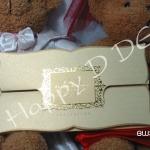 BW33 การ์ดแต่งงานสีทอง-เงิน (มี 2 สี)