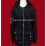 เสื้อแจ๊คเก็ตพังค์ สีดำ Punk Jacket