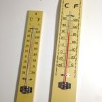 เทอร์โมมิเตอร์วัดอุณหภูมิห้อง แบบติดผนัง แป้นไม้ room thermometer