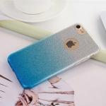 เคสไอโฟน 7 Plus (TPU Case) เคสกากเพชรสีฟ้า