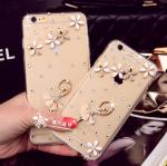เคสไอโฟน 7 Plus (Hard Case กรอบใส) ประดับเพชรและสาวบัลเล่ย์