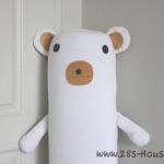 ปลอกหมอนข้างตุ๊กตาหมี สีขาว ## พร้อมส่งค่ะ ##