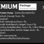 Premium Package ตกแต่งเว็บ ร้านค้าออนไลน์