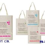 ของชำร่วย กระเป๋า ถุงผ้าลดโลกร้อน PB-hn30