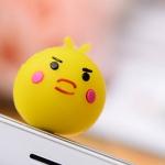 จุกเสียบ iphone4/4s/samsung chickenสีเหลือง silicone