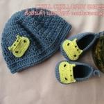 เซ็ทหมวกและรองเท้าพี่ฮิปโป ขนาด 1-3 เดือน *ส่งฟรี EMS