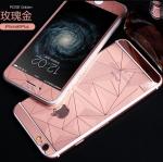 ฟิล์มกระจกลายเพชร หน้า-หลัง Iphone 6/6s สีชมพู