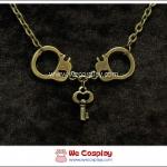สร้อยคอโกธิค จี้กุญแจมือ สีทองโบราณ Gothic Necklace