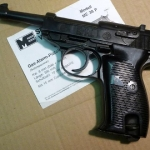Bruni Walther P38 ( ME 38P ) Black Top Firing 8mm. Blank gun