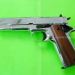 Kimar Colt 1911/911 Nickel Front Firing 9mm.PAK. Blank gun
