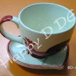 ของชำร่วย แก้วน้ำ พร้อมจานรองแก้ว เซรามิค GD-ml62