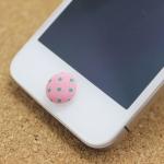 ปุ่มโฮมไอโฟน กระดุมสีชมพู