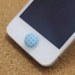 ปุ่มโฮมไอโฟน กระดุมสีฟ้า