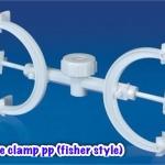 ที่จับบิวเรตแบบพลาสติก Burette clamp PP (Double Fisher Clamp)