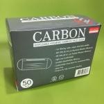 หน้ากากปิดจมูกเสริมคาร์บอน ดูดซับสารเคมี (Carbon Mask) (50ชิ้นต่อกล่อง)