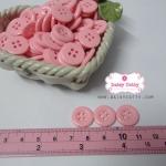 กระดุมพลาสติกสีชมพู ขนาด 1.5 ซ.ม. จำนวน 12 เม็ด(1โหล)