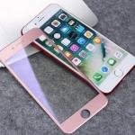 ฟิล์มกระจก 3D แสงม่วงเป็นมิตรต่อดวงตา ฟิล์มแบบเต็มจอ (สีชมพู) สำหรับ Iphone 6/6s