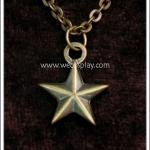 สร้อยคอโกธิค จี้รูปดาว สีทองโบราณ Gothic Necklace