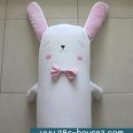ปลอกหมอนข้างตุ๊กตา กระต่าย สีขาว/ชมพู ++ หมดค่ะ ++
