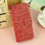 เคสไอโฟน 5/5s/SE (Case Iphone 5/5s/SE) กระเป๋าลายแม่มดน้อย สีแดง