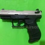Umarex Walther P22S Nickel , cal. 9mm.PAK. Blank gun** แถมลูกกระสุน 25 นัด ฟรี**