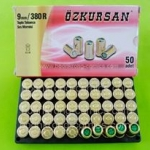 Blank Revolver Cartridges Ozkursan 9mm.PAK/.380RK 50Pcs.
