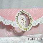 CMAD-03 การ์ดแต่งงาน 3 พับ แนวนอน